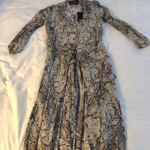 Reformation Snakeskin Maxi Wrap Dress